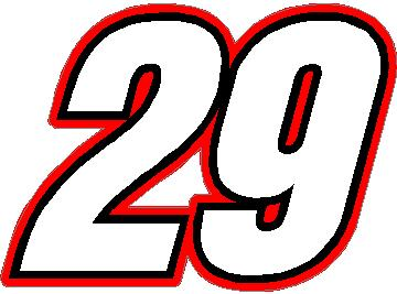 NASCAR Racing Number Fonts