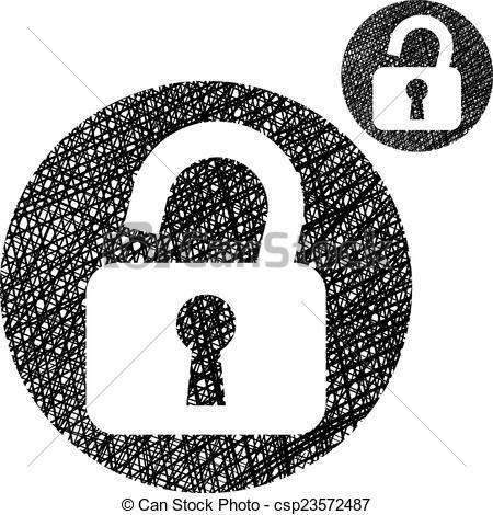 Open Lock Clip Art