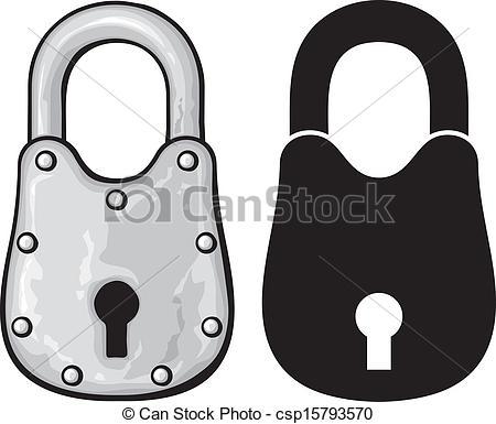 Padlock Vector Clip Art