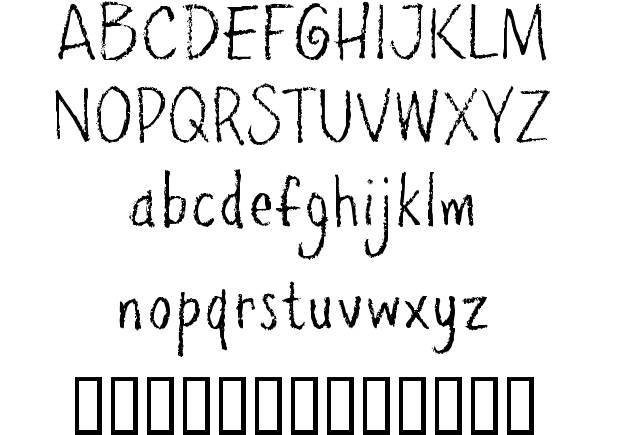 7 Abusive Pencil Font Images