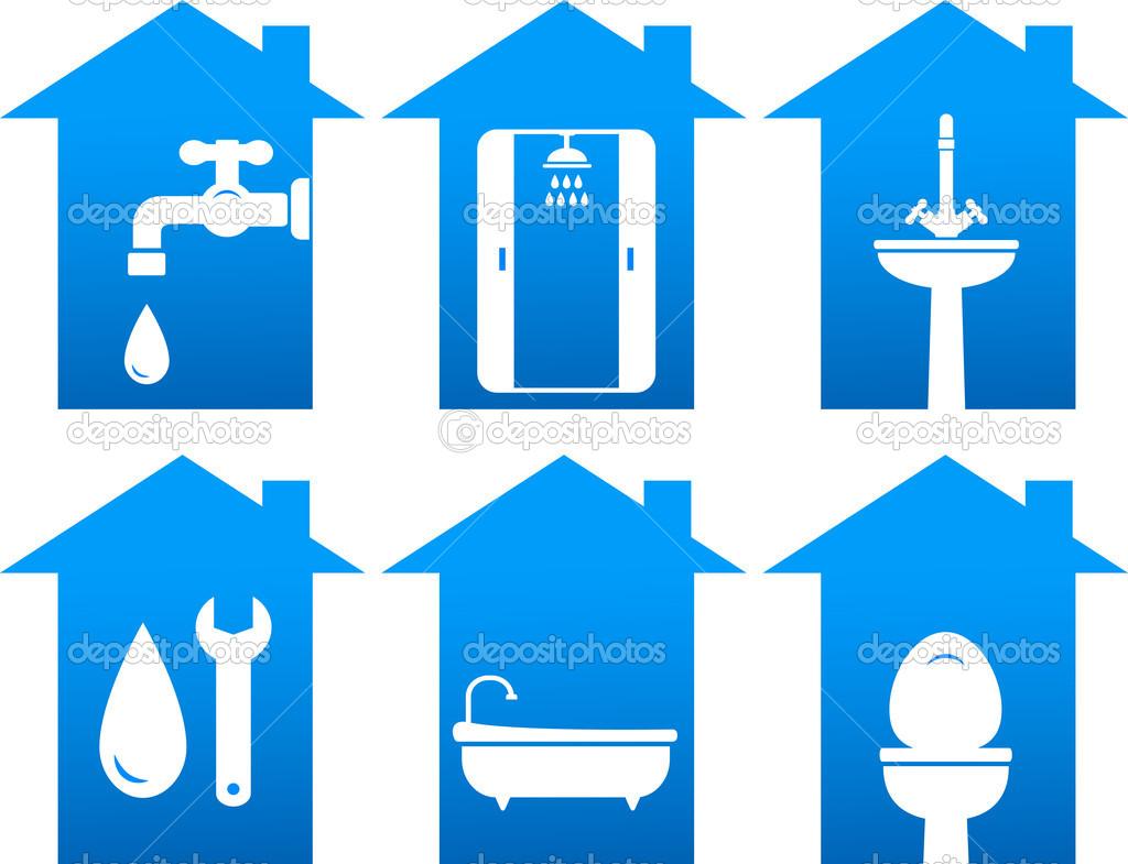 Plumbing Icons Clip Art