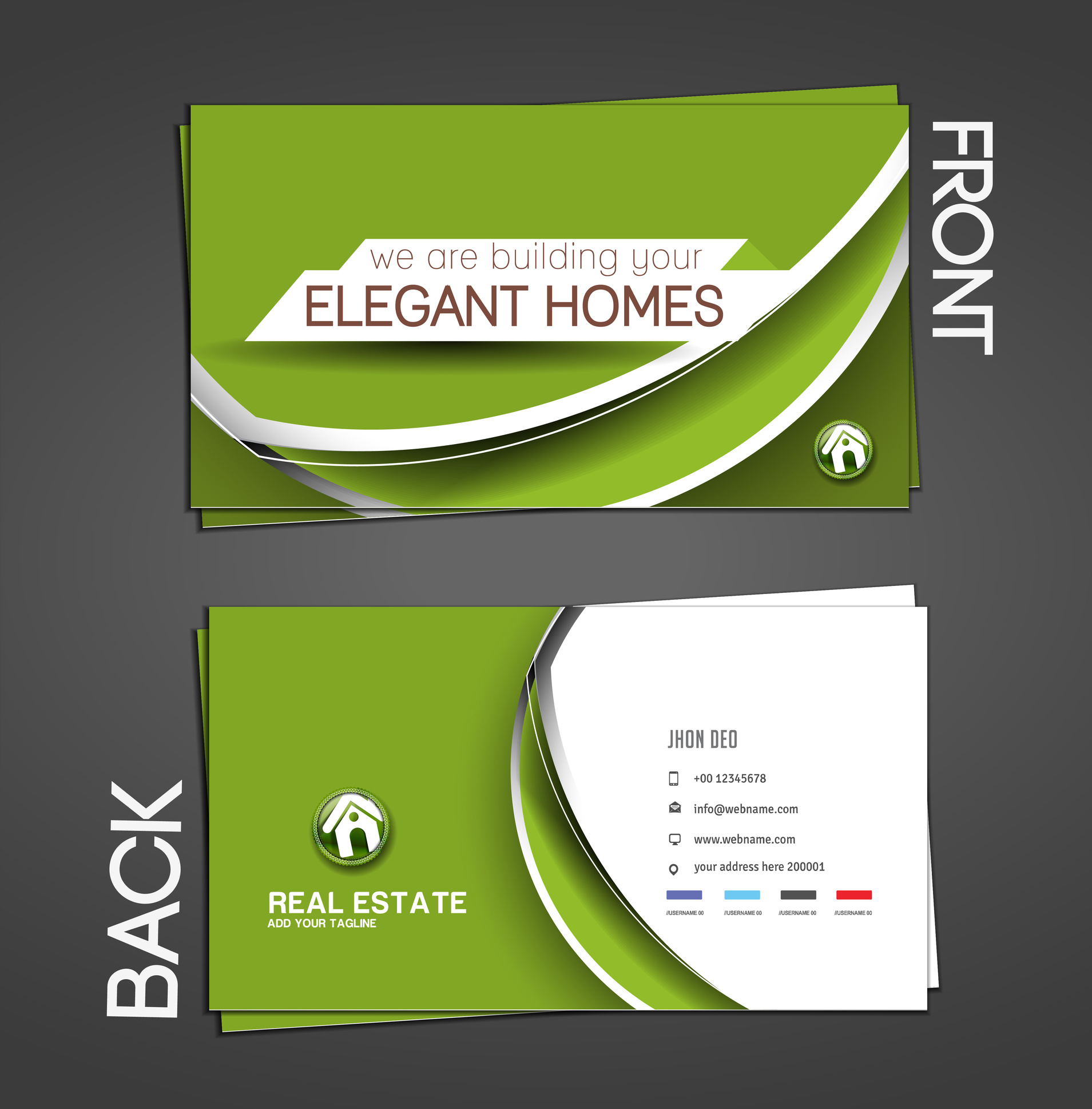 Real Estate Agent Business Cards Realty Studio Design - oukas.info