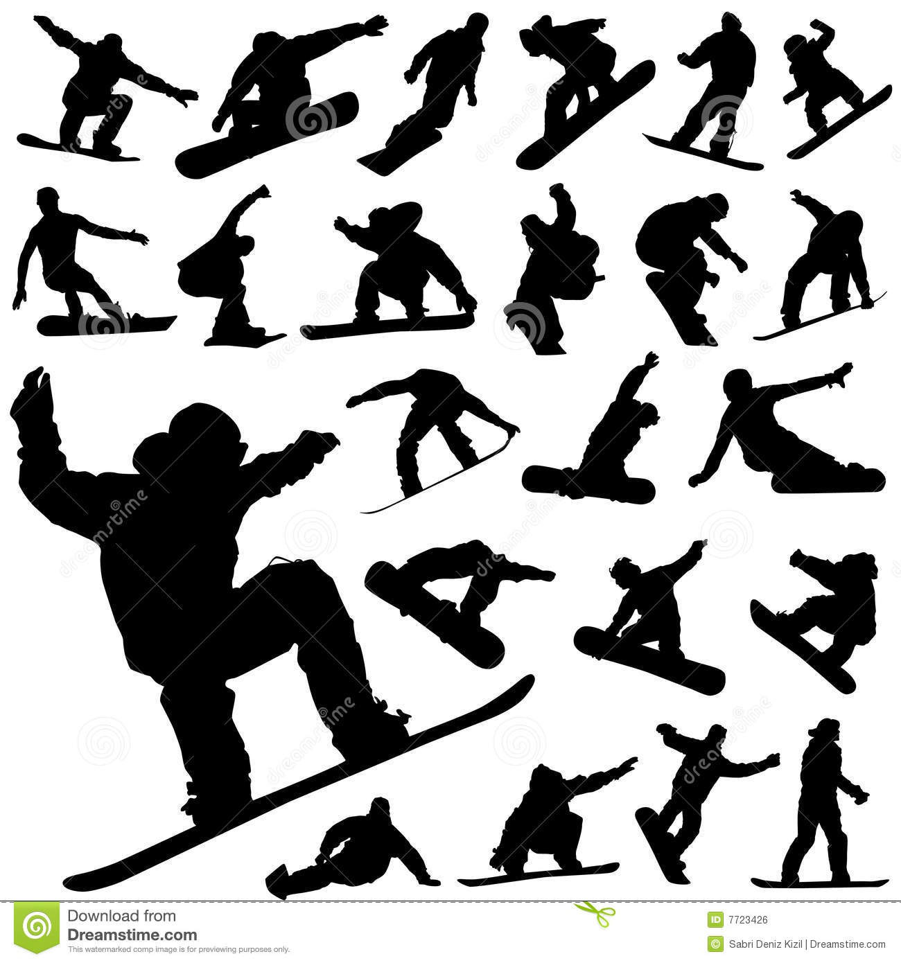 7 Snowboard Vector Icon Images