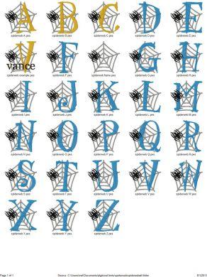 13 Spider Web Lettering Fonts Images - Halloween Spider Web