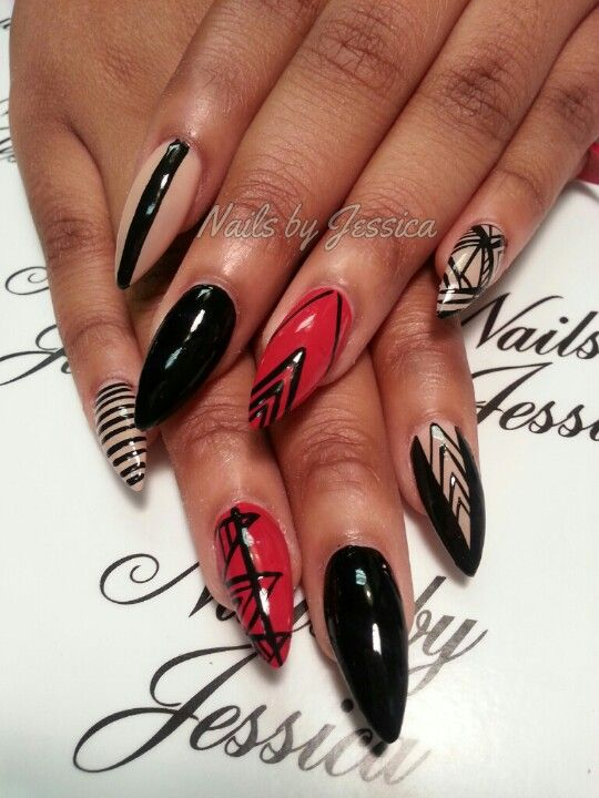Fancy Stiletto Nail Designs 2014 Image Festooning - Nail Art Design ...