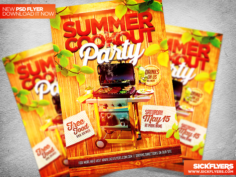 Cookout Flyer Template Psd Purification 2018