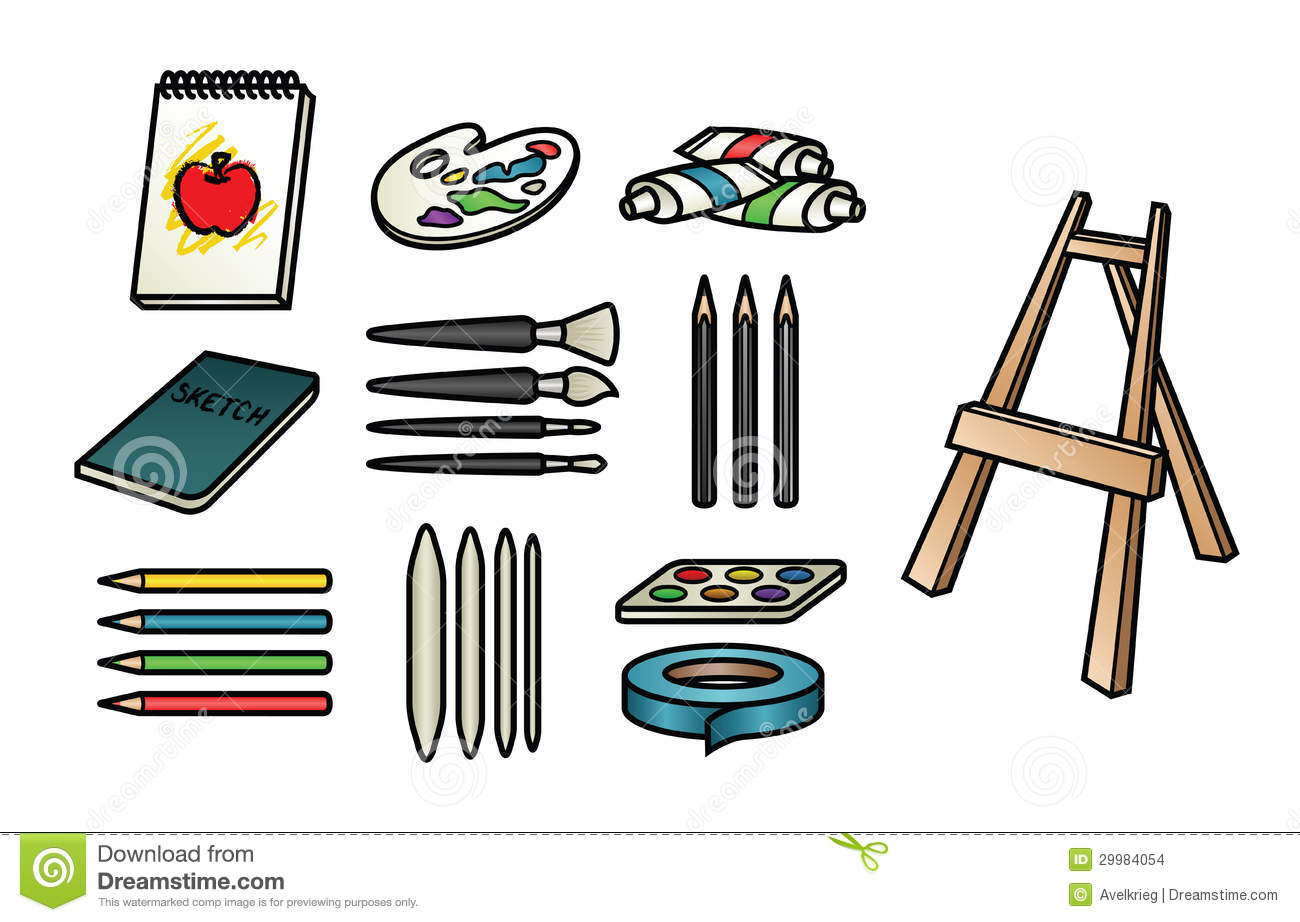 Supply Clip Art Colorful