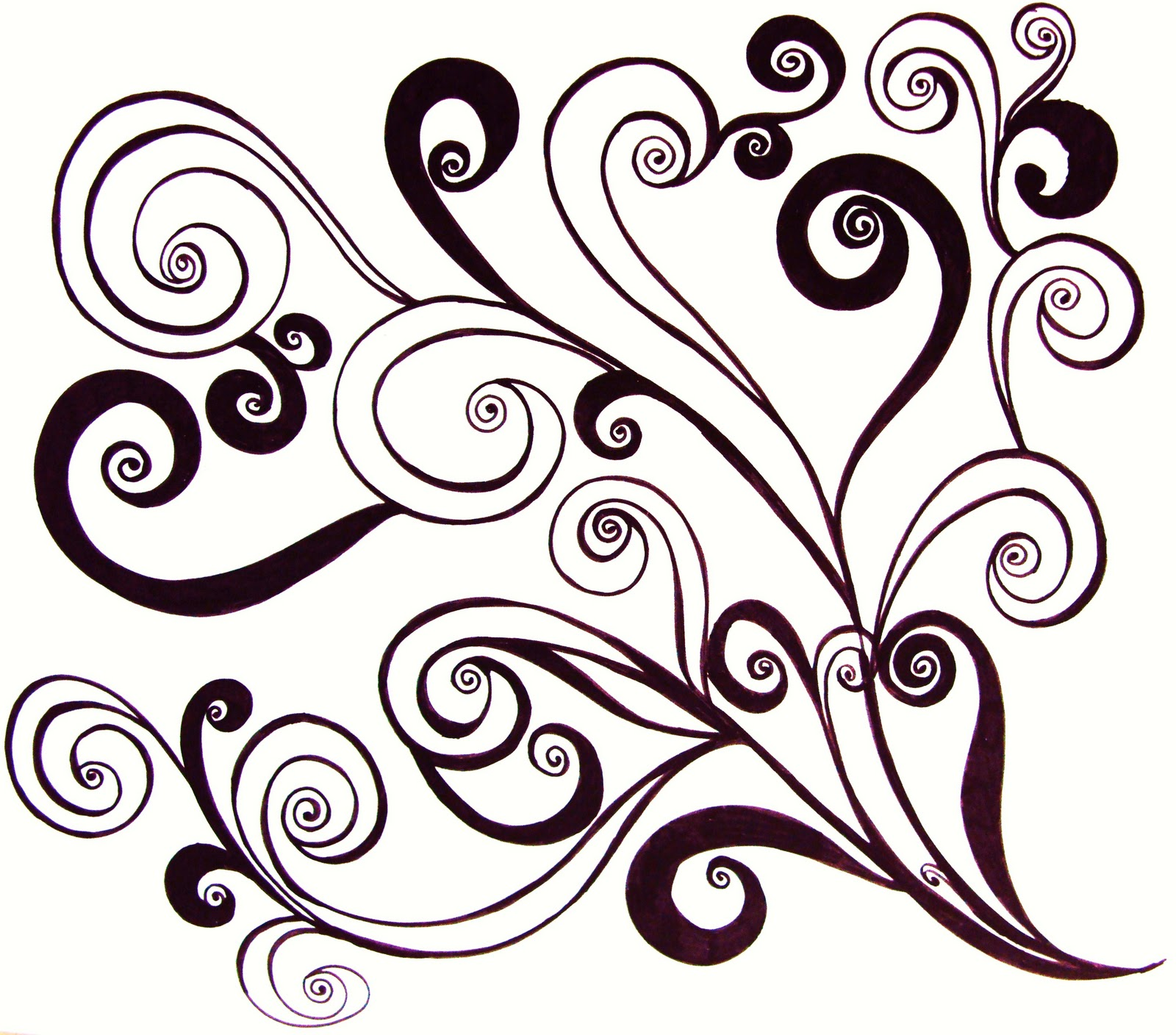 17 swirl pattern design images tattoo swirl designs clip art black swirl designs clip art and. Black Bedroom Furniture Sets. Home Design Ideas