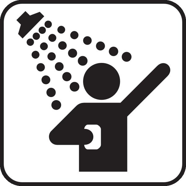 Taking Shower Clip Art
