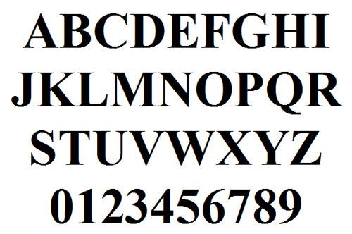 10 Times Roman Font Images