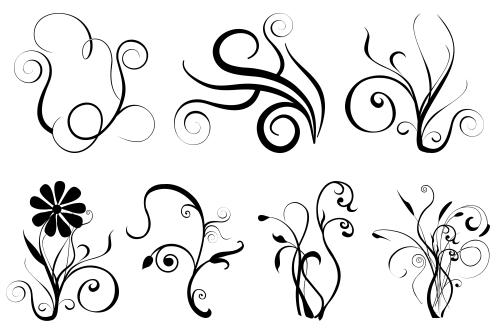 Transparent Swirly Designs