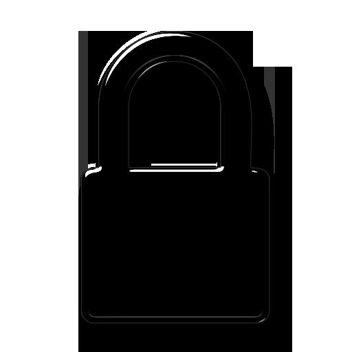TRANSPARENT White Lock Icon