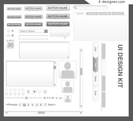 UI Wireframe Templates