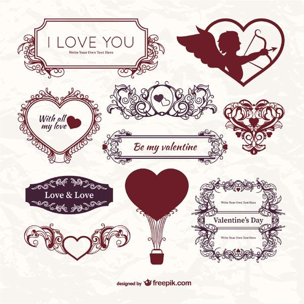 Valentine's Day Free Label Templates Downloads