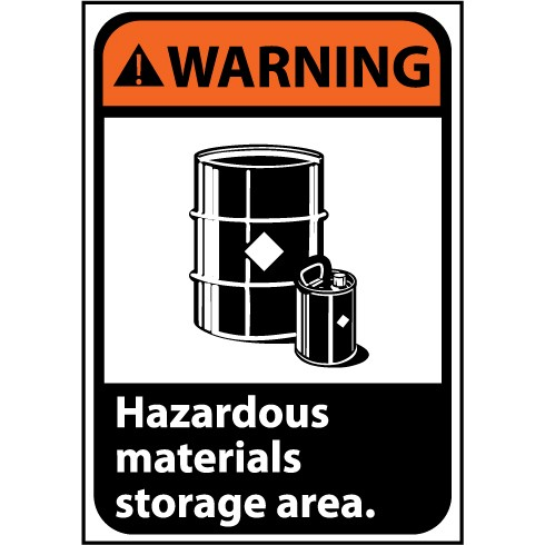 Warning Hazardous Material Storage Area Image