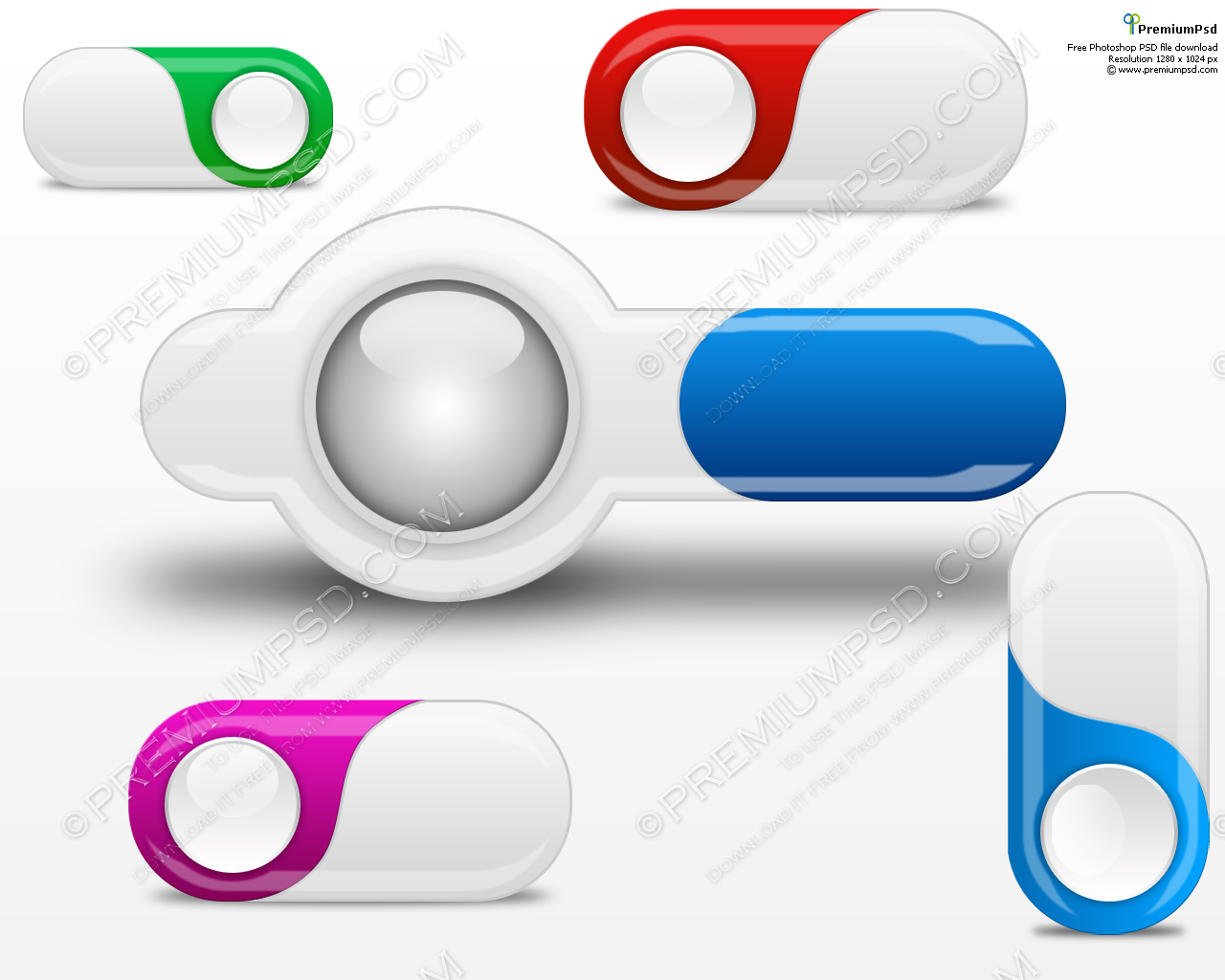 Web Button Vector Free Download