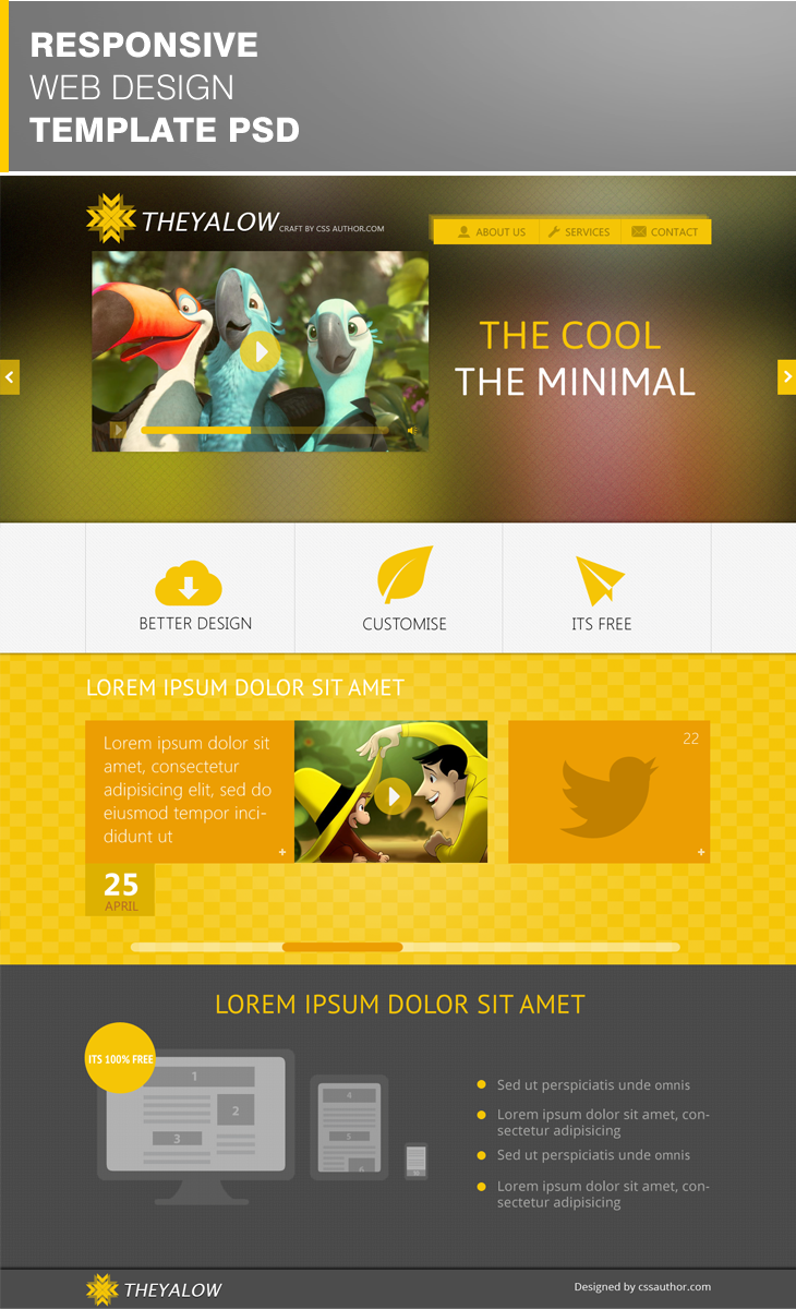 12 Responsive Web Design Templates Images