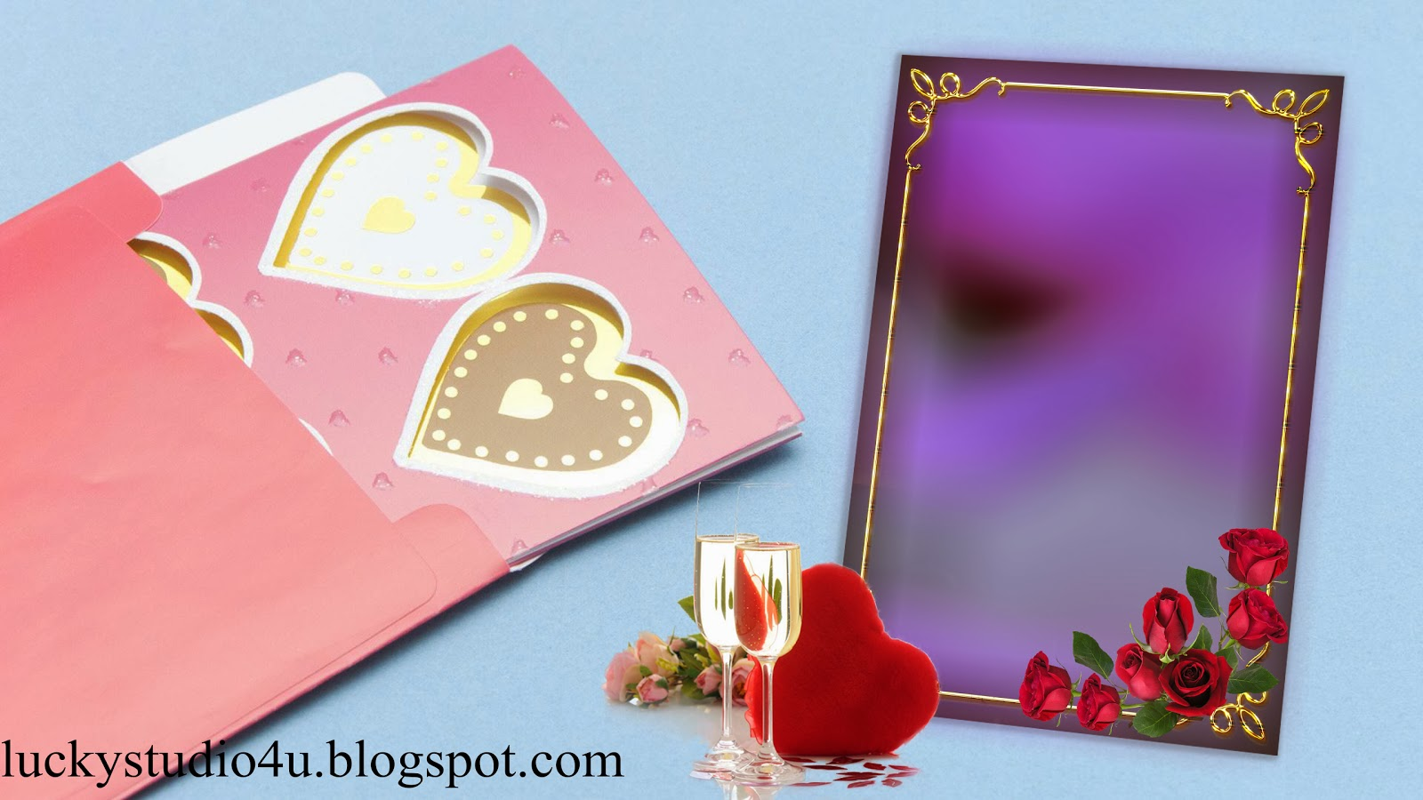 16 Digital Wedding Album PSD Files Images