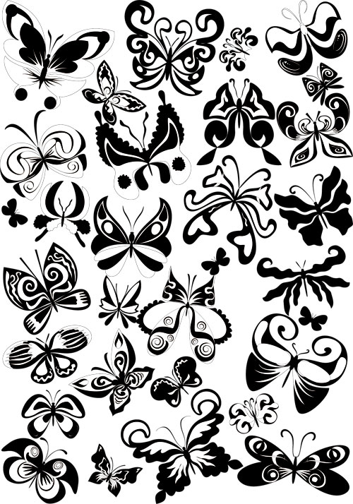 18 Butterfly Designs Vector Images