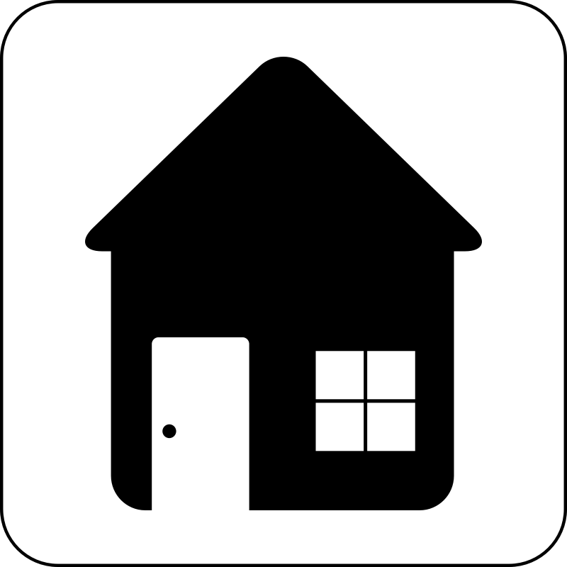13 Black House Icon Round Images
