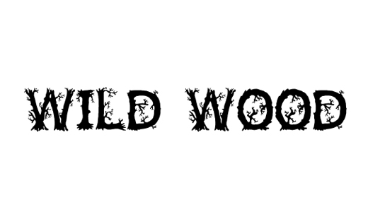 10 Wild Wood Font Images