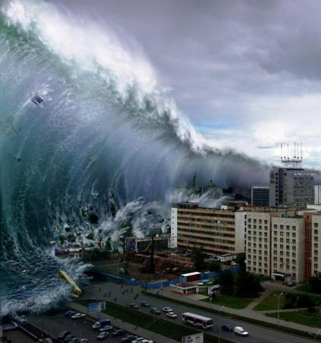 15 Largest Tsunami Ever Photographed Images