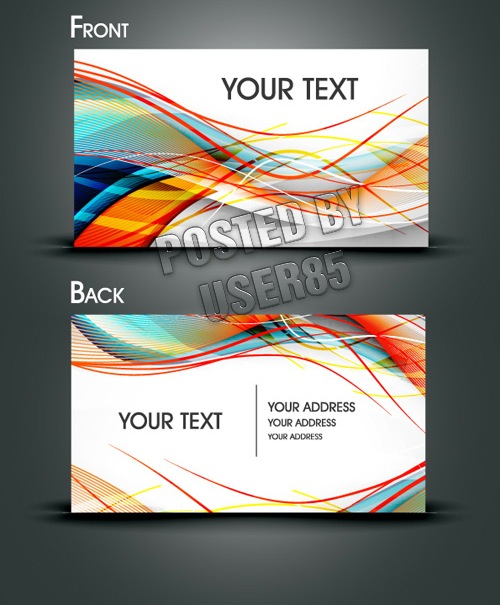 17 Abstract Business Card Templates Images