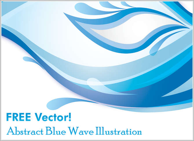 7 Blue Abstract Wave Vector Free Images