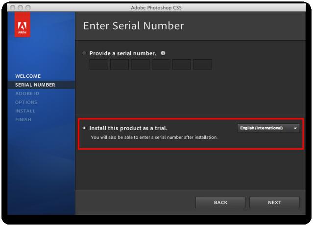 Adobe Photoshop CS5 Extended Serial