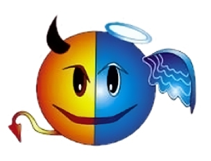 8 Angel And Devil Emoticon Images