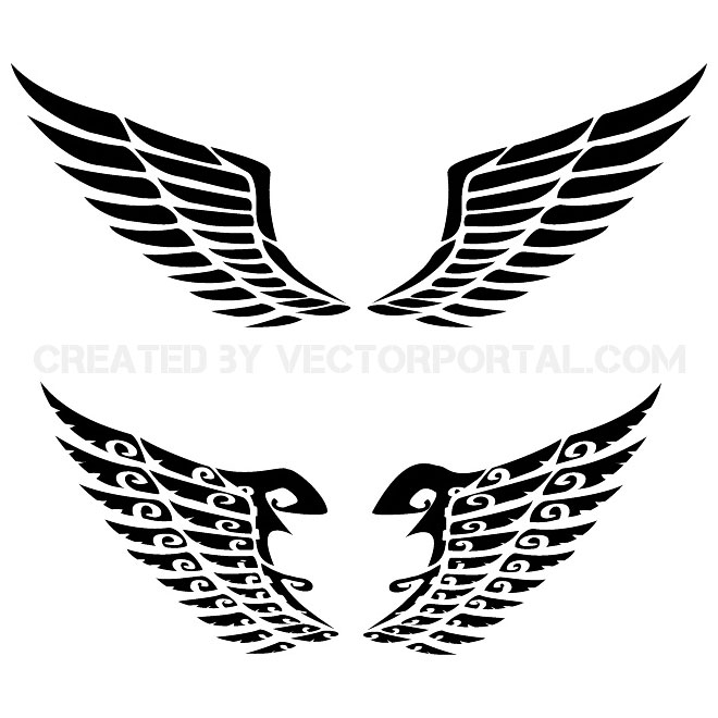 14 Wing Vector Graphics Images