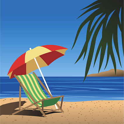Beach Chair Clip Art