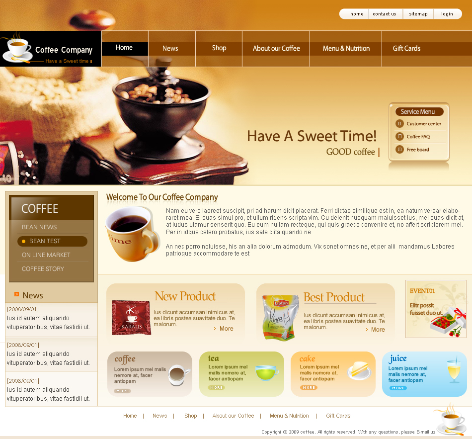 13 Samples Of Website Design Templates Images