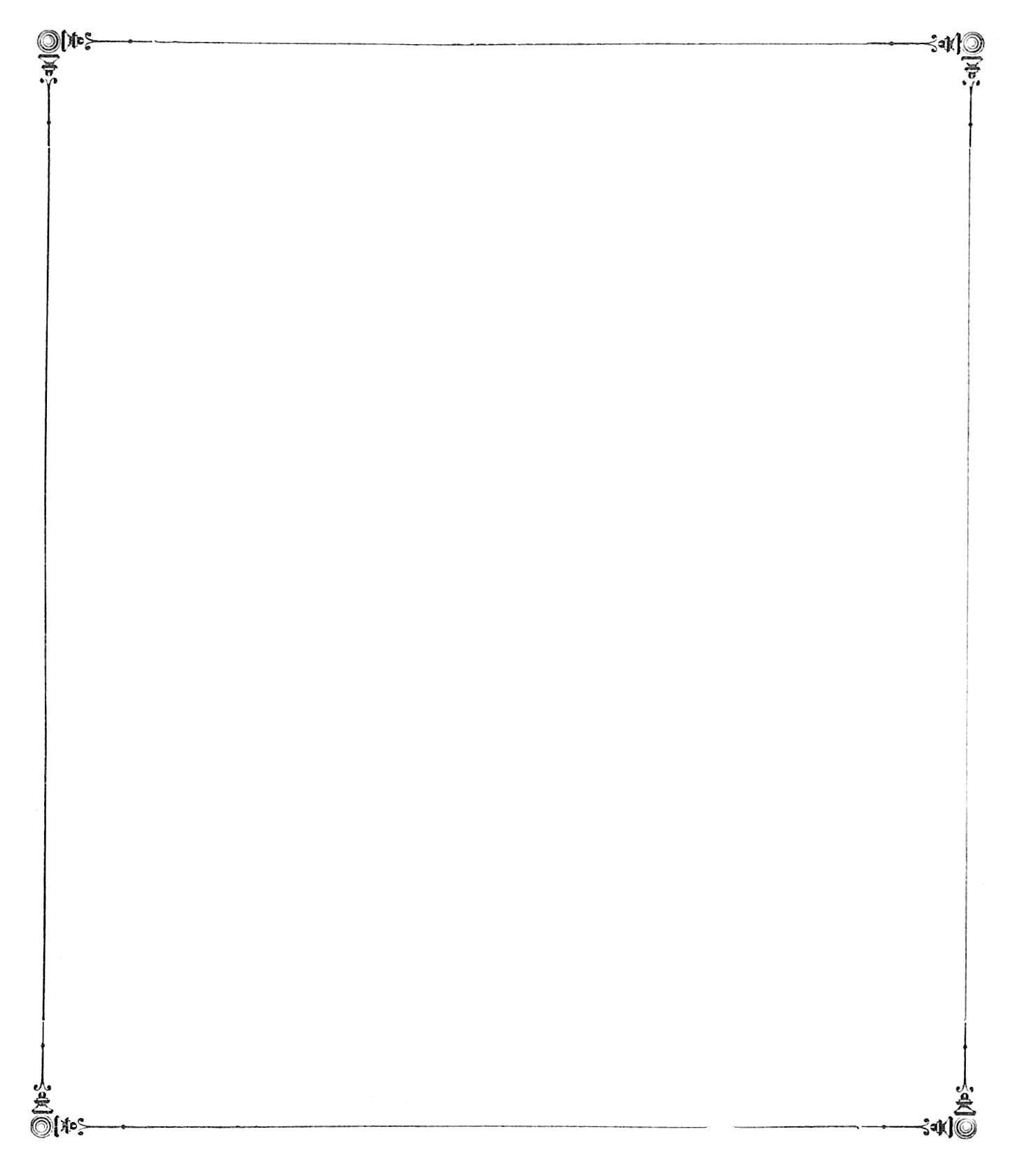 Black and White Simple Border Designs