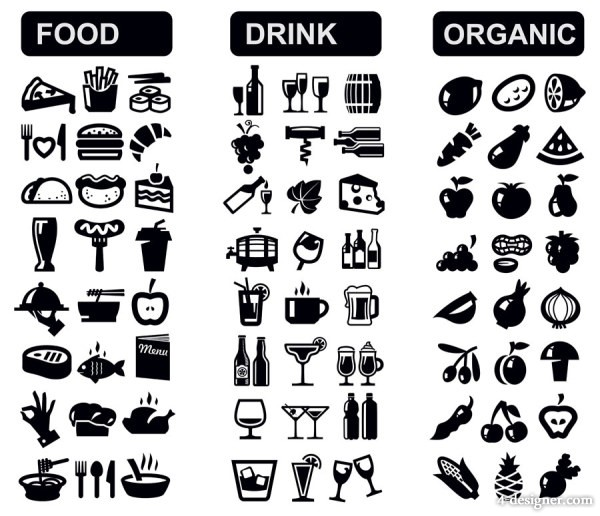 Black and White Vector Icons