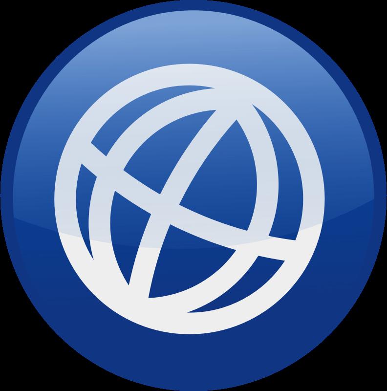 Blue Globe Icon Clip Art