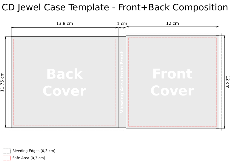 CD Jewel Case Cover Templates