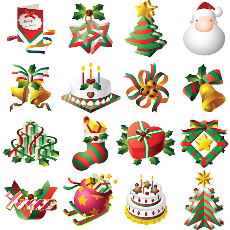 15 Christmas Vector Clip Art Images