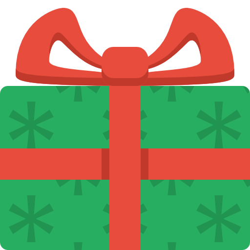 Christmas Presents Icon Flat