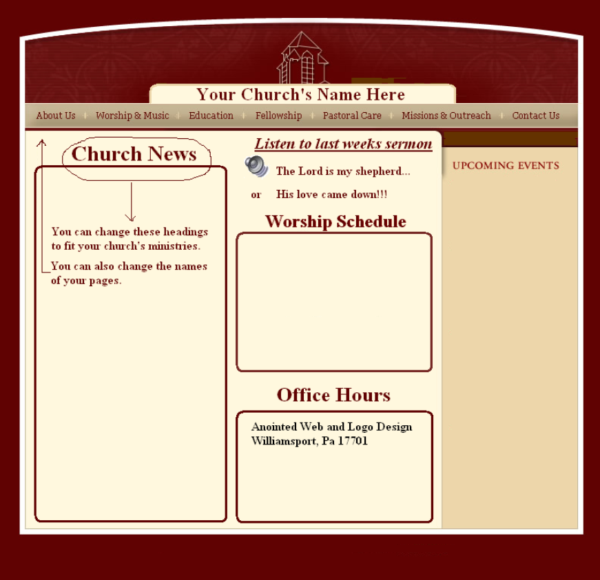 Church Web Page Design Samples