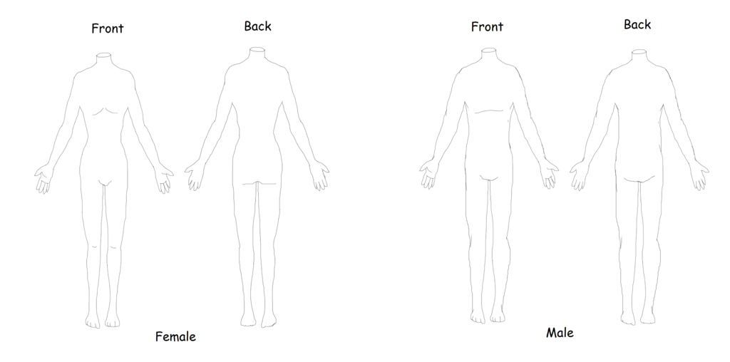 Costume Design Body Template