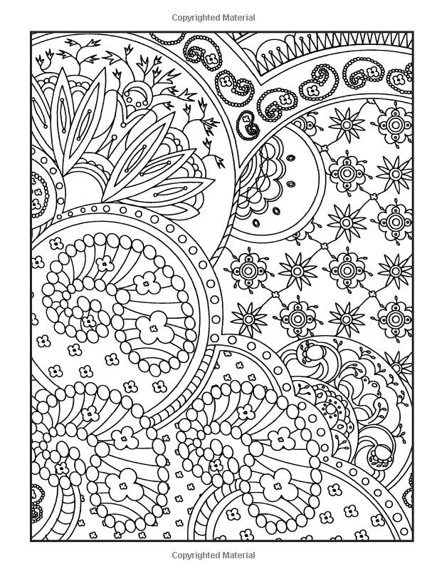 Crazy Paisley Coloring Pages for Adults