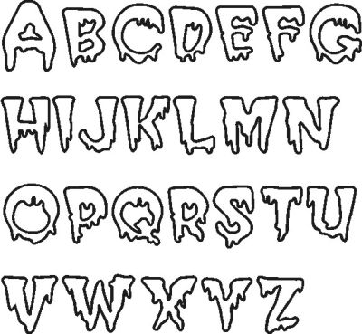 16 Halloween Creepy Alphabet Fonts Images - Scary Halloween Letters