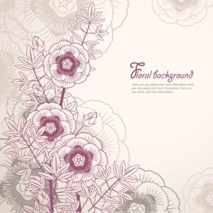 Elegant Flower Vector Floral Backgrounds