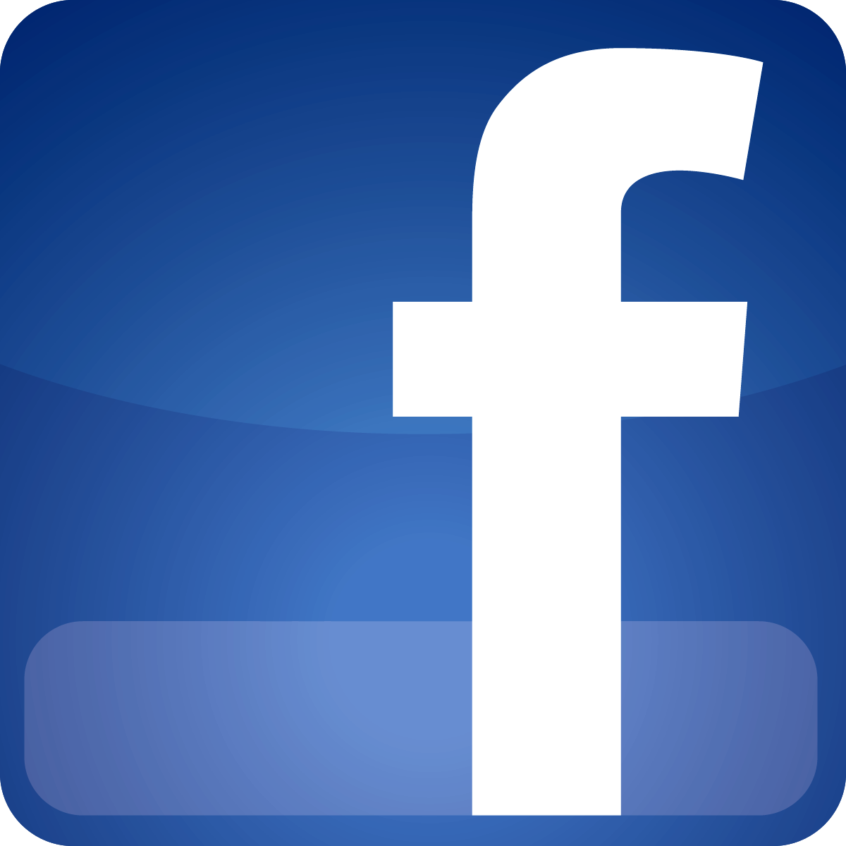 5 Neon Facebook Icon PNG Images