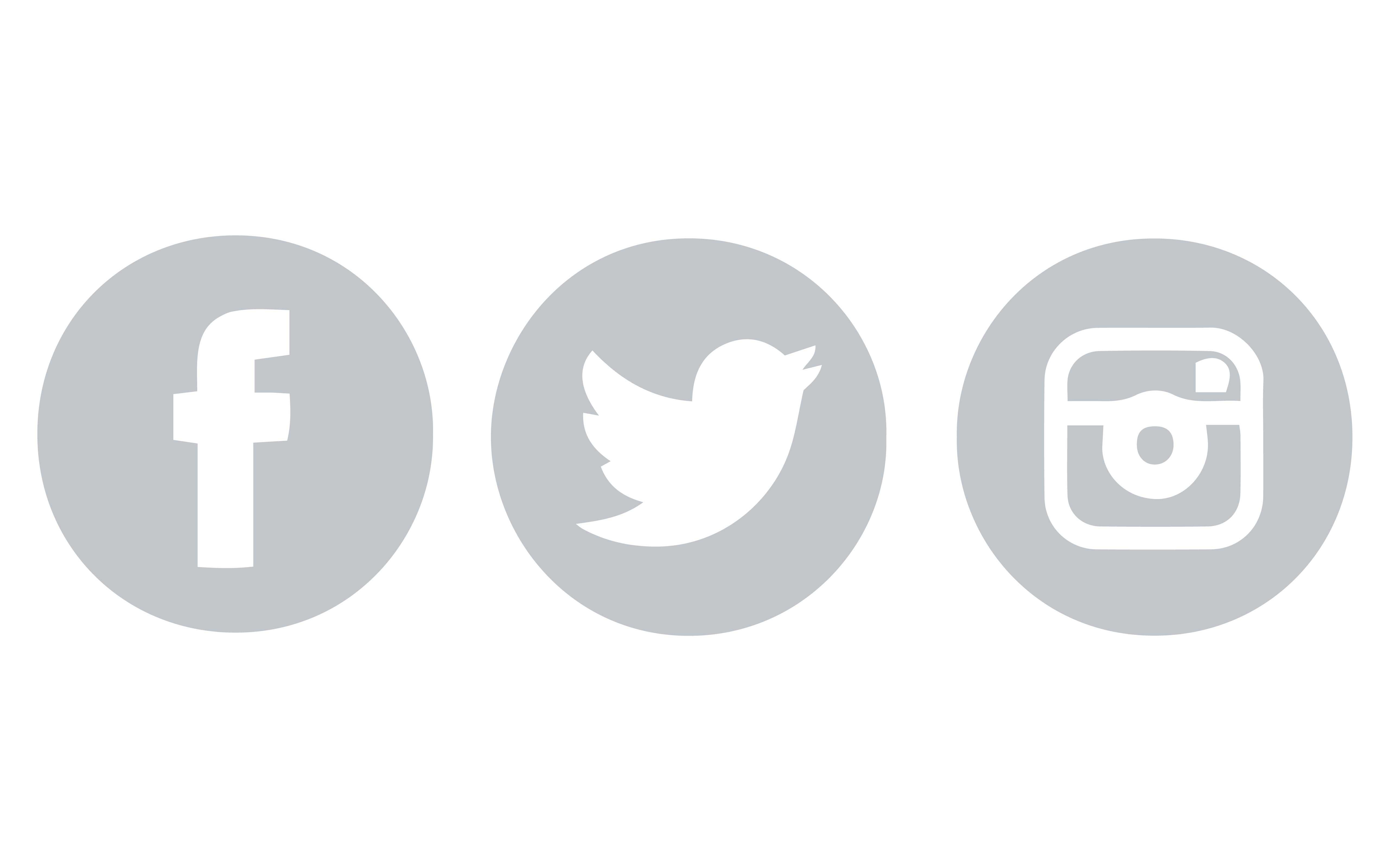 Facebook Twitter Instagram Icons