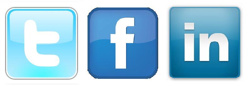 Facebook Twitter LinkedIn Logos