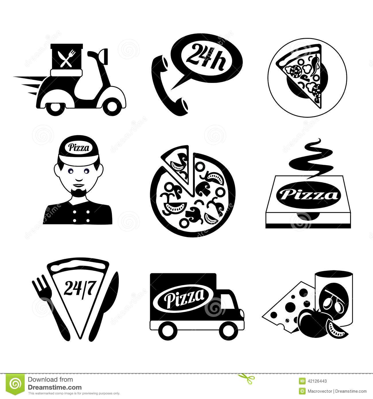 Fast Food Icon Black and White