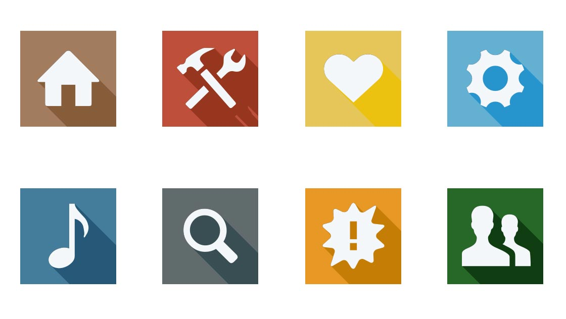 20 Flat Design Icons Images