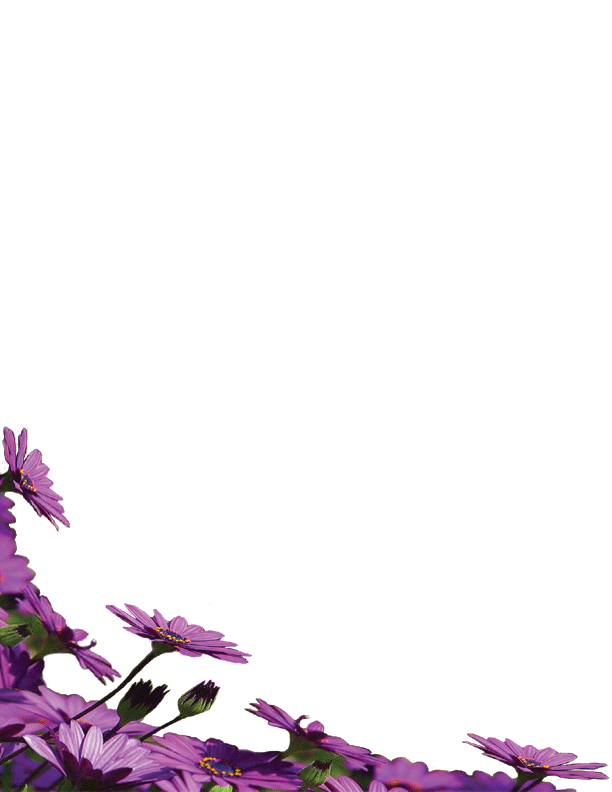 Flower Page Borders